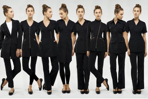 Dress your staff for success spa clinic for Spa uniform canada
